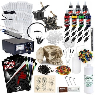 Complete Tattoo Set w/ 2 Machines, Power Supply, Millennium Mom's Ink