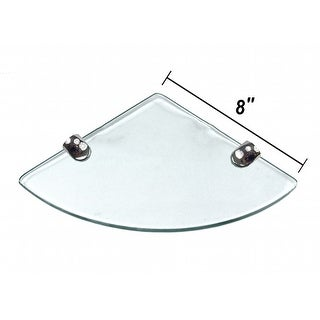 "Miseno MT-WHSSEC0808-CL 8"" Clear Glass Bathroom Shelf"