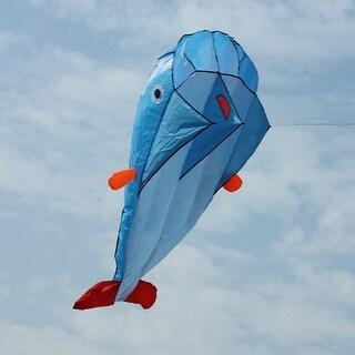 AGPtek 3D Kite Huge Frameless Soft Parafoil Giant Dolphin Kite Blue - SIZE