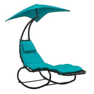 BELLEZE Outdoor Lounge Chair Swing Cushion Seat Hammock Canopy - standard
