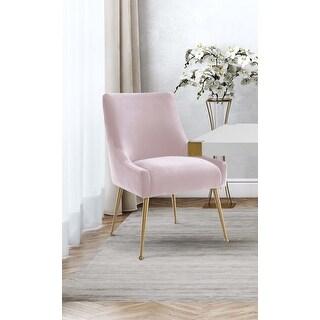 Beatrix Blush Velvet Side Chair