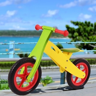 Costway 12'' Balance bike Classic Kids No-Pedal Learn to Ride Pre Bike - adjustable