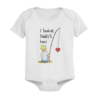 I Hooked Daddy's Heart Cute Baby Bodysuit Infant Bodysuit Father's Day Gift Idea