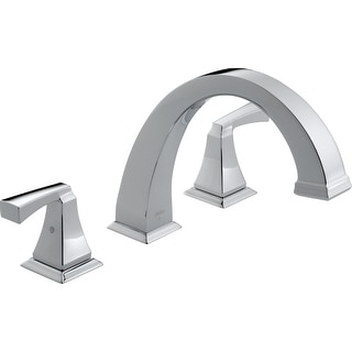 Delta T2751 Dryden Deck Mounted Roman Tub Filler Trim with Lever