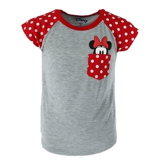 Disney Youth Minnie Mouse Peeking Pocket Tee Shirt