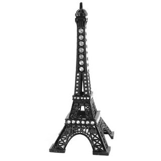 Household Metal Miniature Statue Paris Eiffel Tower Model Souvenir Decor Black