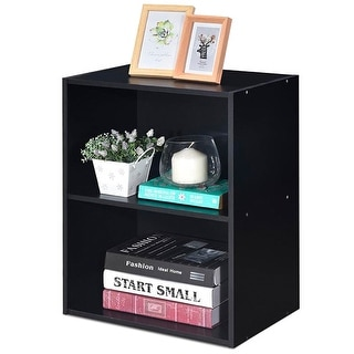 Gymax 2 Tier Open Shelf Night Stand End Table Sofa Side Storage