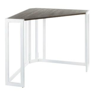 Roman Industrial Wood & Metal Corner Desk