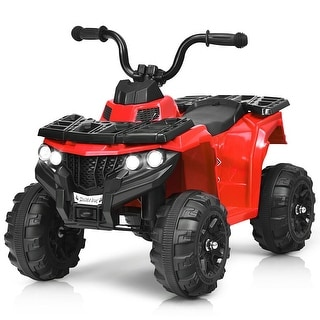 Gymax 6V Battery Powered Kids Ride On ATV 4-Wheeler Quad w/ MP3 & LED