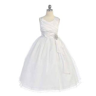 Chic Baby White Surplice Double Layer Communion Dress Girls 4-14