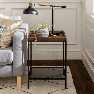Carbon Loft Edelman Industrial Tray Top Side Table