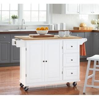 3-drawer Drop Leaf Kitchen Cart