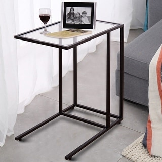 Costway Coffee Tray Side Sofa End Table Ottoman Couch Stand TV Lap