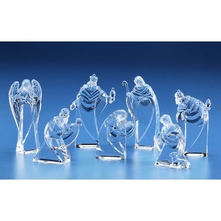 Pack of 14 Clear Arched Miniature Religious Holy Family Nativity Figures 4.5