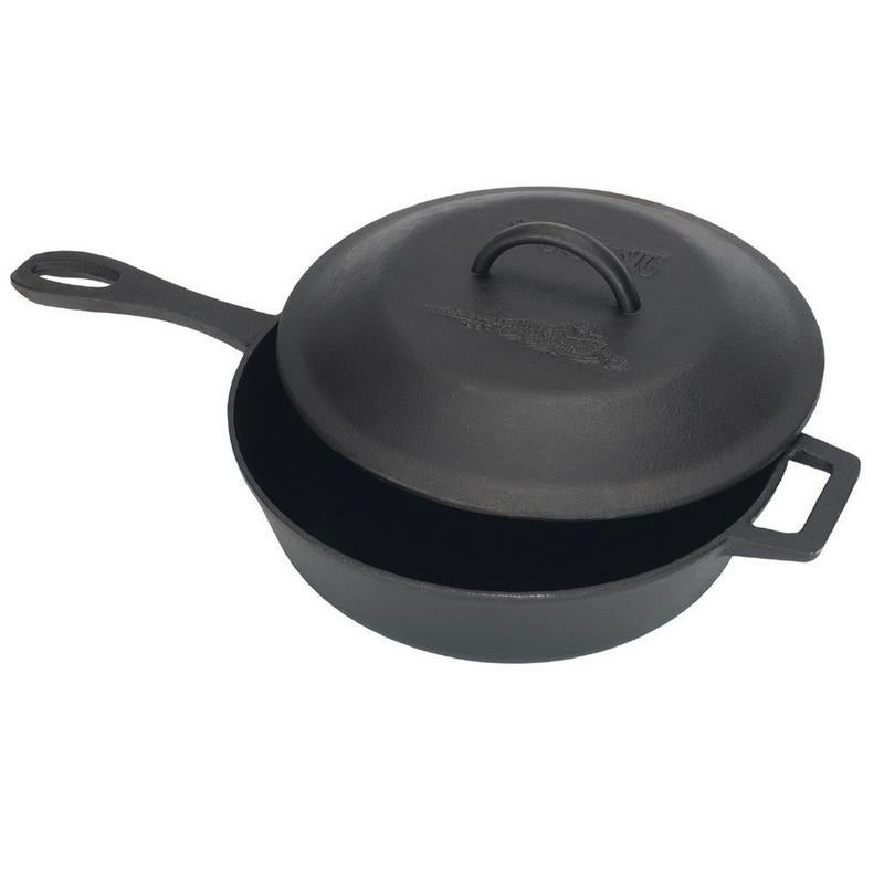 Bayou Classic Cast Iron 3-qt Covered Skillet with Self-Basting Lid