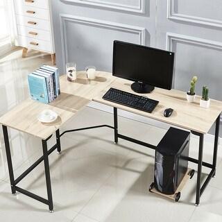 L-Shape Corner Workstation Table Steel Comouter Gaming Desk