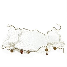 """59"""" Cream Fisherman's Net with Rope and Seashells Nautical Themed Decoration"""