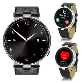Indigi® (Silver) H365 HD Touch Screen Bluetooth-Sync SmartWatch & Phone w/ Heart Rate Sensor + SIRI for All iPhones+Android