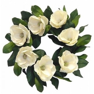 """24"""" Luxury real look magnolia blossom wreath"""