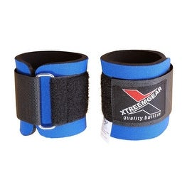 Weight Lifting Wrist WrapsTraining Straps Velcro Locked with Hook Blue W1-B