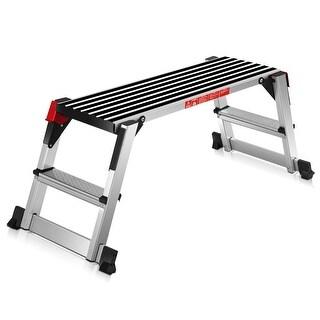 Goplus 330lbs Aluminum Step Stool Folding Bench Work Platform Non-slip
