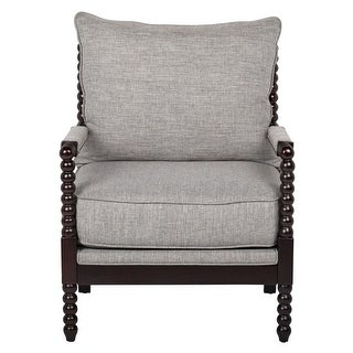 Offex Home Colonnade Spindle Accent Chair - Grey