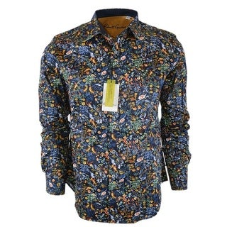 Robert Graham GIN BLOSSOM Cotton Floral Print Classic Fit Sports Shirt