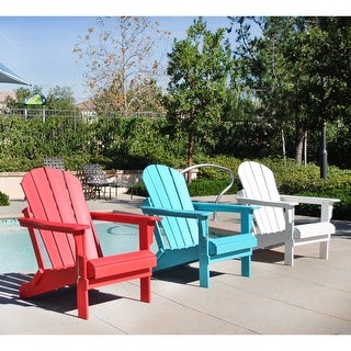 Laguna Poly Folding Outdoor Patio Adirondack Eco-Friendly Chair