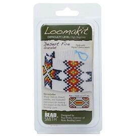 BeadSmith Loomakits, DIY Kit For Ricks Beading Loom, Desert Fire Bracelet