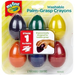 Crayola My First Washable Egg Crayons- - Multicolor