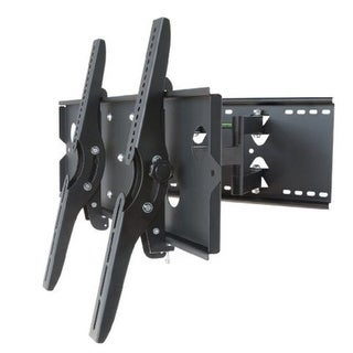 2xhome -TV Wall Mount Bracket Dual Double Arm Secure Low Profile Cantilever LED LCD Plasma 3D Flat Screen Monitor Long Swing