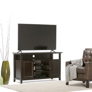 WYNDENHALL Halifax SOLID WOOD 54 inch Wide Transitional TV Media Stand For TVs up to 60 inches - 54'' W x 18.9'' D x 31.9'' H