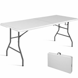 6' Folding Table Portable Plastic Indoor Outdoor Picnic Party Dining Camp Tables