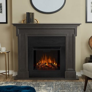 Thayer Electric Fireplace Grey by Real Flame - 54.38L x 13W x 44.88H
