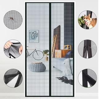 UPGRADE Magnetic Screen Door with Durable Fiberglass Mosquito Mesh Curtain