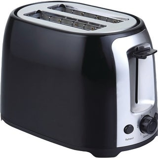Brentwood appliances ts-292b 2-slice cool-touch toaster with extra-wide slots (black and stainless steel)