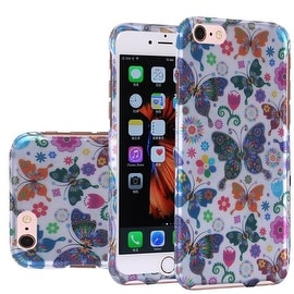 Insten Colorful Butterfly Hard Snap-on Rubberized Matte Case Cover For Apple iPhone 5/ 5S/ SE