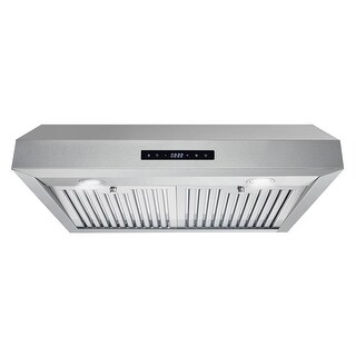 30 in. Ducted Under Cabinet Range Hood with Permanent Filters, LED Lights in Stainless Steel