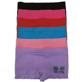 Girl's 6 Pack Seamless Sunglasses Print Underwear Panties