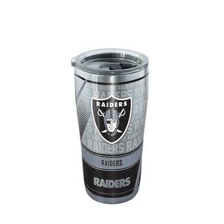 NFL Oakland Raiders Edge 20 oz Stainless Steel Tumbler with lid