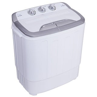 Gymax Compact Mini Twin Tub 8lbs Washing Machine Washer Spinner