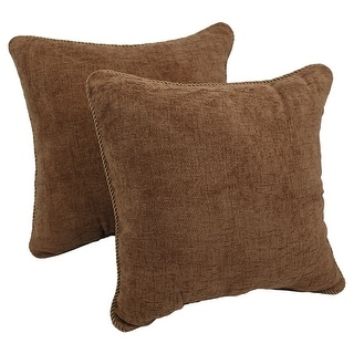 Blazing Needles 18-inch Chenille Corded Throw Pillow (Set of 2)