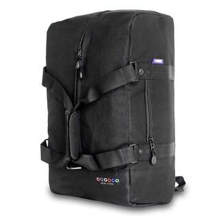 JWorld New York Black Duncan 19-inch 3-way Weekender Duffel/ Backpack