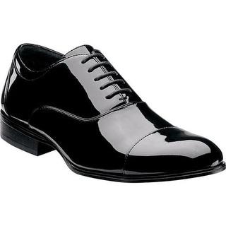 Stacy Adams Men's Gala Cap Toe Oxford 24998 Black Patent PU