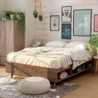 Kael Modern Storage Queen Size Platform Bed