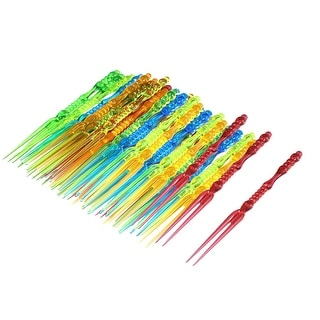 Plastic Home Birthday Party Food Cake Fruit Forks Picker 60pcs