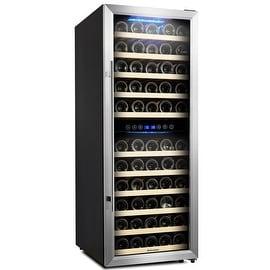 Kalamera Wine Cooler 73 Bottle Dual Zone Wine Refrigerator with Digital Temperature Display