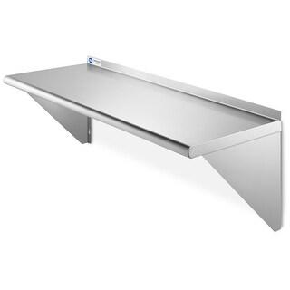 """GRIDMANN NSF 16 Gauge Stainless Steel Kitchen Wall Mount Shelf - 18"""" x 36"""""""
