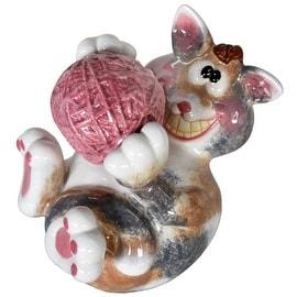 Kitty with Yarn Ceramic Bank