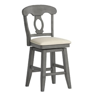 Eleanor Napoleon Back Wood Swivel Chair by iNSPIRE Q Classic